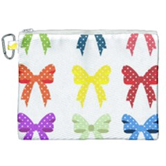 Ribbons And Bows Polka Dots Canvas Cosmetic Bag (xxl) by Modern2018