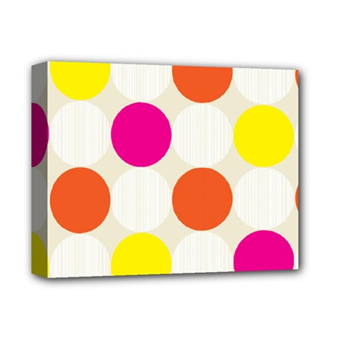 Polka Dots Background Colorful Deluxe Canvas 14  X 11  by Modern2018