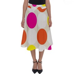 Polka Dots Background Colorful Perfect Length Midi Skirt by Modern2018
