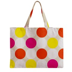Polka Dots Background Colorful Medium Tote Bag by Modern2018