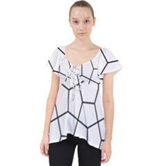 Cairo Tessellation Simple Lace Front Dolly Top