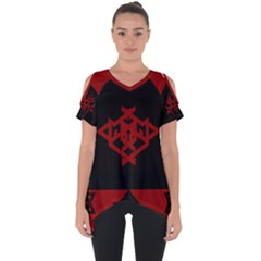 Ghost Gear   Tribal   Cut Out Side Drop Tee by GhostGear