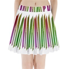 Summer Colorful Rainbow Typography Pleated Mini Skirt by yoursparklingshop