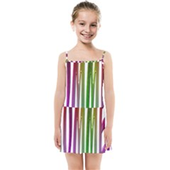 Summer Colorful Rainbow Typography Kids Summer Sun Dress