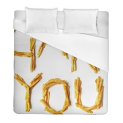Thank You French Fries Duvet Cover (full/ Double Size) by goodart
