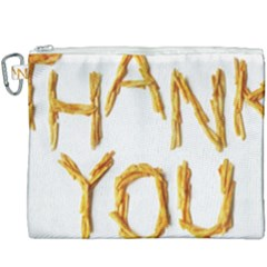 Thank You French Fries Canvas Cosmetic Bag (xxxl)