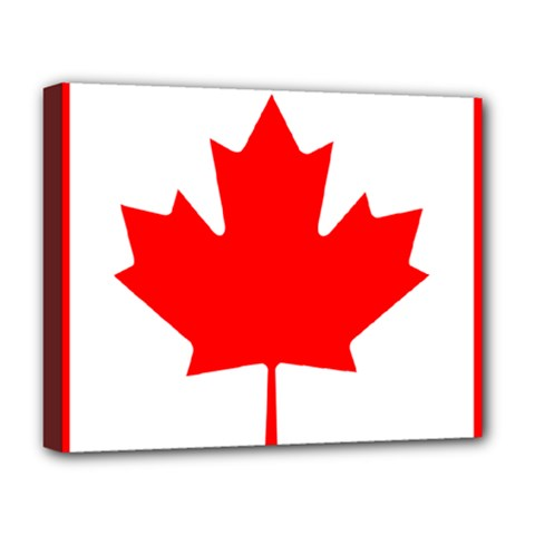 Flag Of Canada Deluxe Canvas 20  X 16   by goodart