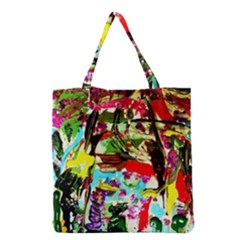 No Warrant For Blossoming Corner Grocery Tote Bag by bestdesignintheworld