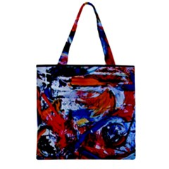 Mixed Feelings Zipper Grocery Tote Bag by bestdesignintheworld