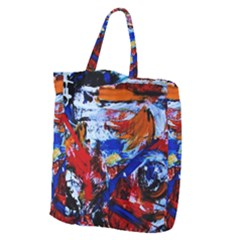 Mixed Feelings Giant Grocery Zipper Tote by bestdesignintheworld