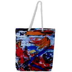 Mixed Feelings Full Print Rope Handle Tote (large) by bestdesignintheworld