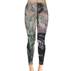 Lady With Lillies Leggings  by bestdesignintheworld