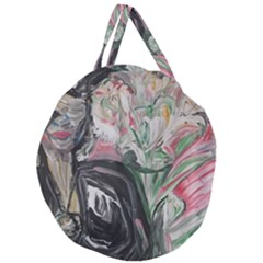 Lady With Lillies Giant Round Zipper Tote by bestdesignintheworld