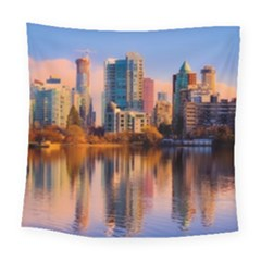 Vancouver Canada Sea Ocean Square Tapestry (large) by Simbadda