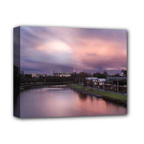 Sunset Melbourne Yarra River Deluxe Canvas 14  X 11