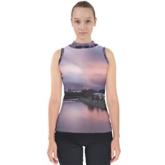 Sunset Melbourne Yarra River Shell Top by Simbadda