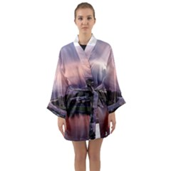 Sunset Melbourne Yarra River Long Sleeve Kimono Robe