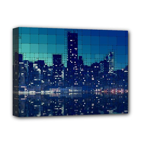 Skyscrapers City Skyscraper Zirkel Deluxe Canvas 16  X 12