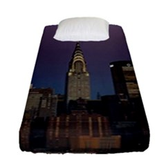 Skyline City Manhattan New York Fitted Sheet (single Size) by Simbadda