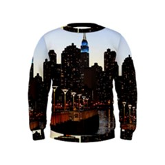 New York City Skyline Building Kids  Sweatshirt