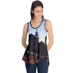 New York City Skyline Building Sleeveless Tunic