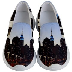 New York City Skyline Building Kid s Lightweight Slip Ons by Simbadda