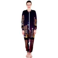 Building Skyline City Cityscape Onepiece Jumpsuit (ladies)  by Simbadda