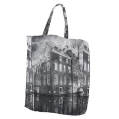 Reflection Canal Water Street Giant Grocery Zipper Tote