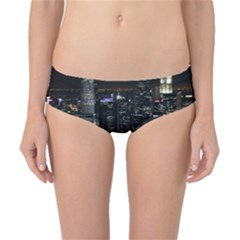 City At Night Lights Skyline Classic Bikini Bottoms by Simbadda