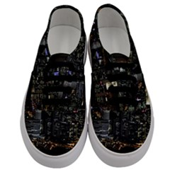 City At Night Lights Skyline Men s Classic Low Top Sneakers