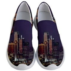 Dallas Texas Skyline Dusk Usa Women s Lightweight Slip Ons