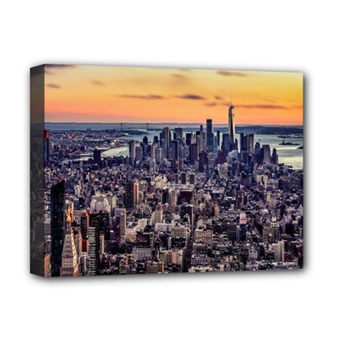 New York Skyline Architecture Nyc Deluxe Canvas 16  X 12