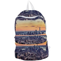 New York Skyline Architecture Nyc Foldable Lightweight Backpack by Simbadda