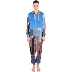 Skyscraper Architecture City Hooded Jumpsuit (ladies)