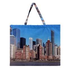 Skyscraper Architecture City Zipper Large Tote Bag