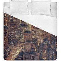 New York City Skyline Nyc Duvet Cover (king Size) by Simbadda