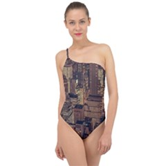 New York City Skyline Nyc Classic One Shoulder Swimsuit