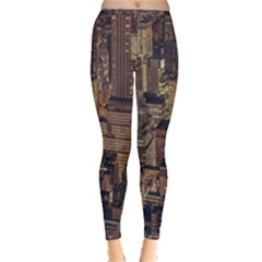 New York City Skyline Nyc Inside Out Leggings