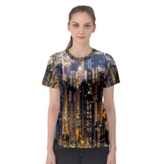 Panorama Urban Landscape Town Center Women s Sport Mesh Tee