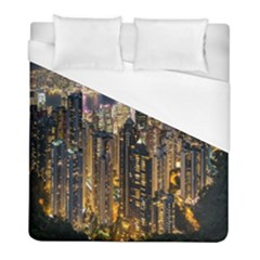 Panorama Urban Landscape Town Center Duvet Cover (full/ Double Size)