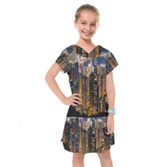 Panorama Urban Landscape Town Center Kids  Drop Waist Dress