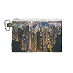 Panorama Urban Landscape Town Center Canvas Cosmetic Bag (medium) by Simbadda