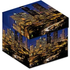 Skyline Downtown Seattle Cityscape Storage Stool 12