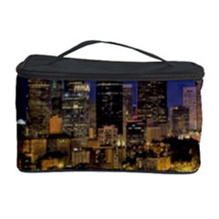 Skyline Downtown Seattle Cityscape Cosmetic Storage Case by Simbadda