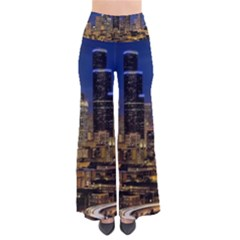 Skyline Downtown Seattle Cityscape So Vintage Palazzo Pants by Simbadda