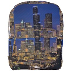 Skyline Downtown Seattle Cityscape Full Print Backpack