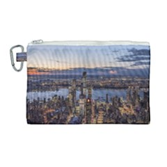 Panoramic City Water Travel Canvas Cosmetic Bag (large) by Simbadda