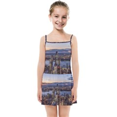 Panoramic City Water Travel Kids Summer Sun Dress
