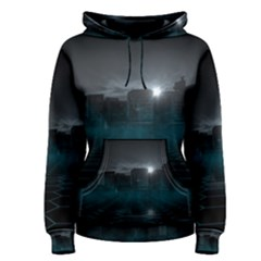 Skyline Night Star Sky Moon Sickle Women s Pullover Hoodie