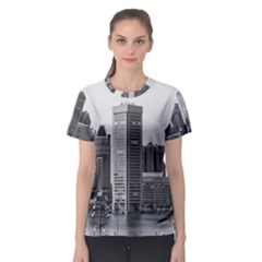Architecture City Skyscraper Women s Sport Mesh Tee by Simbadda